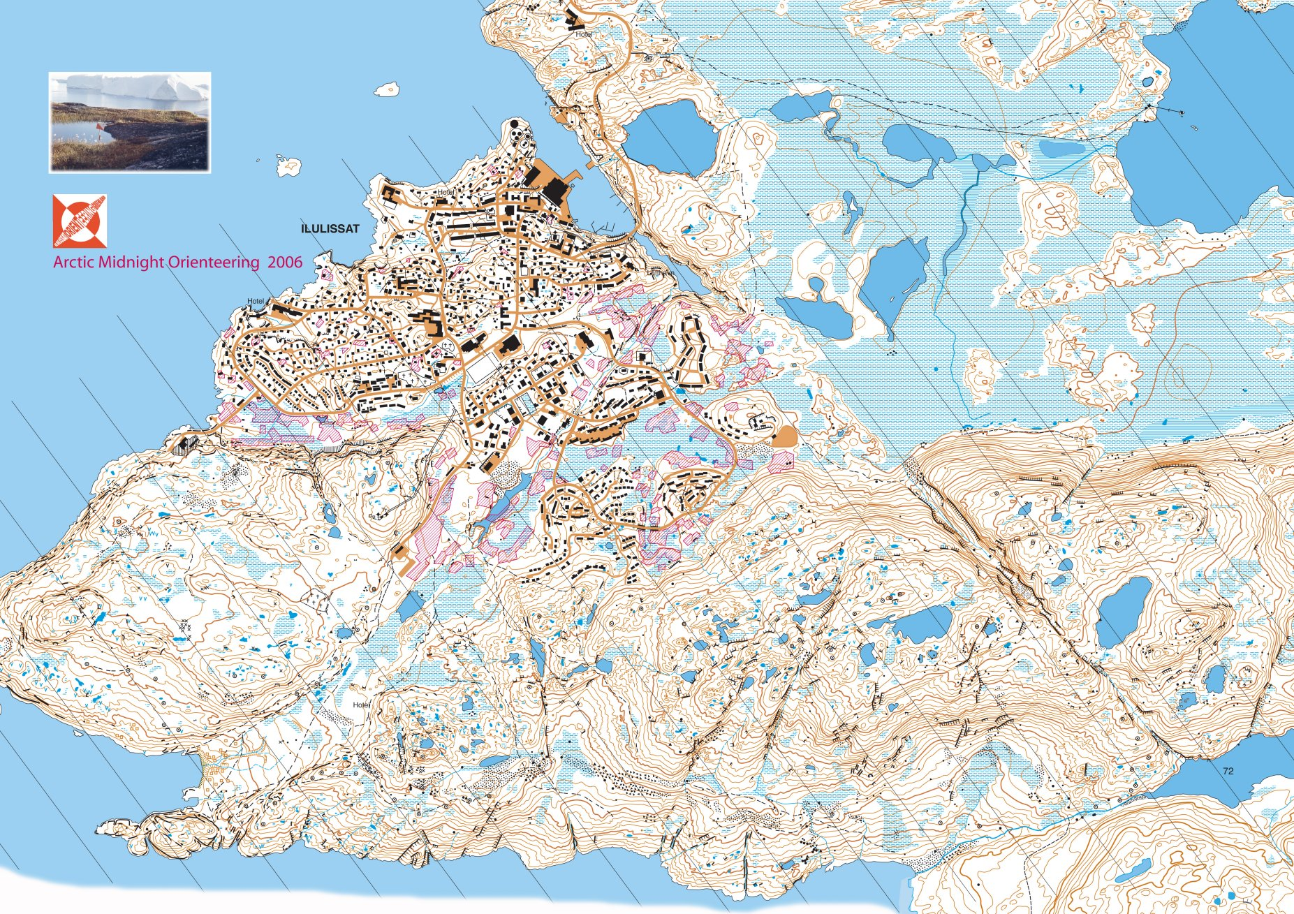 Orienteering map in Greenland